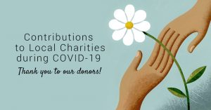 Contributions to Local Charities during COVID-19